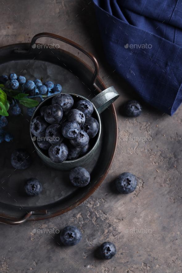 Organic Blueberries - Stock Photo - Images