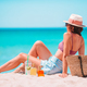 Young woman in hat on the beach vacation - PhotoDune Item for Sale