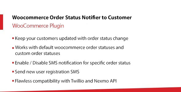 Woocommerce Order Status Change Notifier to Customer and Admin Using SMS