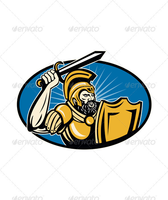 Roman Centurion Soldier With Sword And Shield - People Characters