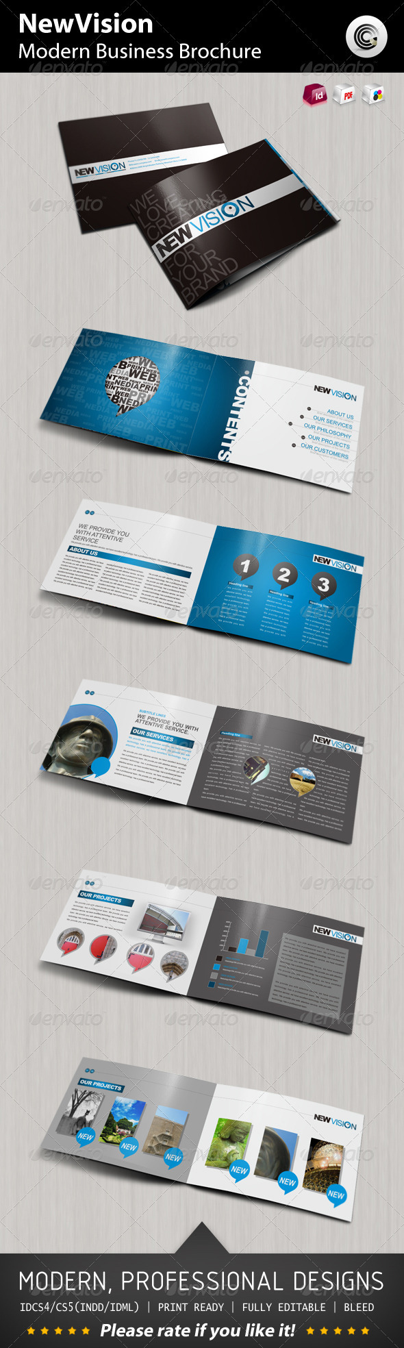 New Vision Modern Business Brochure - Brochures Print Templates