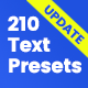 210 Text Presets - VideoHive Item for Sale