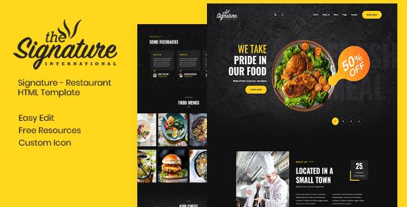 Thesignature - Restaurant HTML Template
