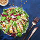 Salad with grilled chicken, spinach, arugula, cedar nuts and pomegranate seeds - PhotoDune Item for Sale
