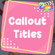 Cartoon Callout Titles | FCPX - VideoHive Item for Sale