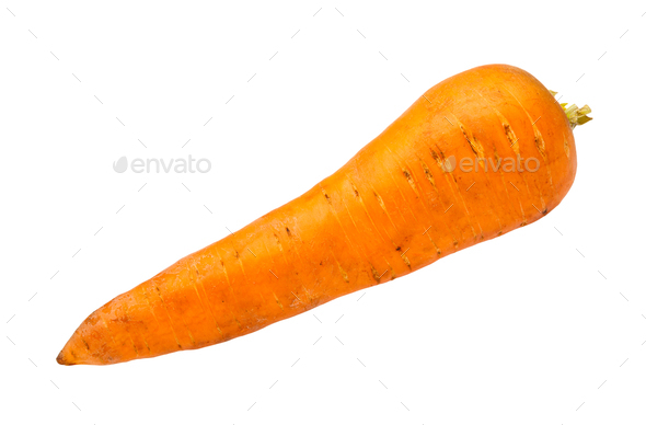 clean fresh garden carrot isolated on white - Stock Photo - Images