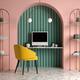 Memphis style conceptual interior Home office 3 d illustration - PhotoDune Item for Sale