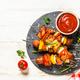Shish kebab at skewers with vegetable - PhotoDune Item for Sale