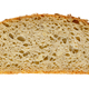 Slice of spelt bread, brown sourdough bread, from above - PhotoDune Item for Sale