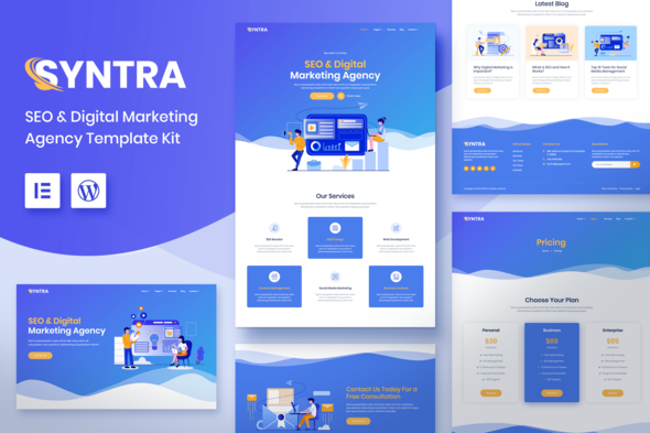 SYNTRA – SEO & Digital Marketing Agency Template Kit