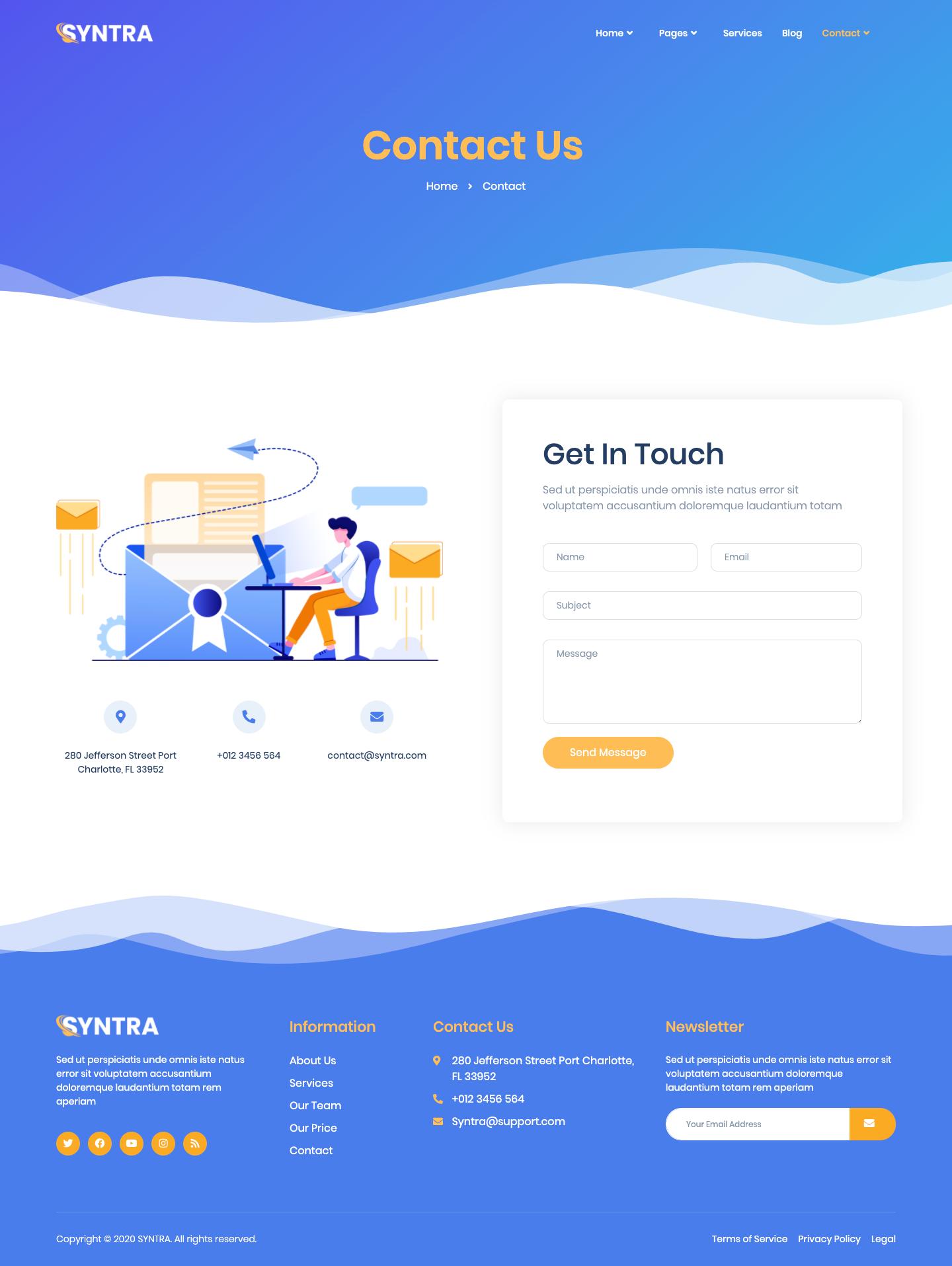 SYNTRA – SEO & Digital Marketing Agency Template Kit by jegtheme | ThemeForest