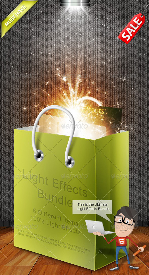 Light Effects Bundle - Decorative Graphics