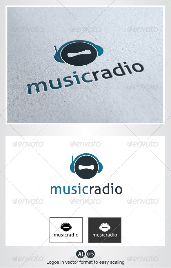 Music Radio Logo - Humans Logo Templates
