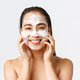 Skincare, women beauty, hygiene and personal care concept. Close-up of beautiful asian female - PhotoDune Item for Sale