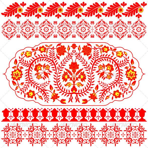 Indian ornaments - Decorative Symbols Decorative