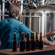 Two men presenting craft beer in the microbrewery. - PhotoDune Item for Sale