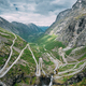 Trollstigen, Andalsnes, Norway. Cars Goes On Serpentine Mountain Road Trollstigen. Famous Norwegian - PhotoDune Item for Sale