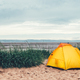 Bright Yellow Tent on the Beach - PhotoDune Item for Sale