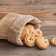 Butter cookies in burlap bag - PhotoDune Item for Sale