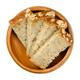Slice of brown sourdough spelt bread in a wooden bowl - PhotoDune Item for Sale
