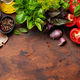 Italian cuisine ingredients. Tomatoes, herbs and spices - PhotoDune Item for Sale
