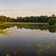 Panoramic view on flooded meadow in summer at sunrise - PhotoDune Item for Sale