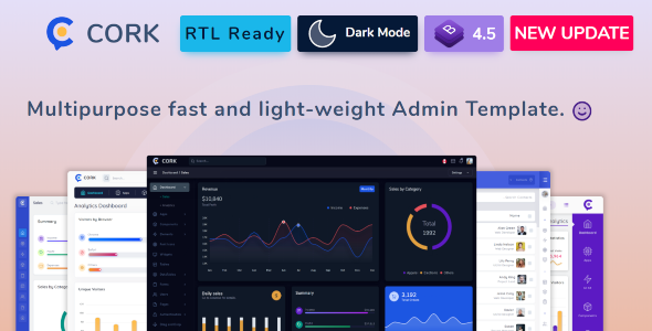 Excellent Cork - Responsive Admin Dashboard Template