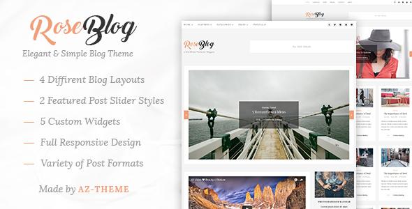 Rose - Elegant & Simple WordPress Blog Theme