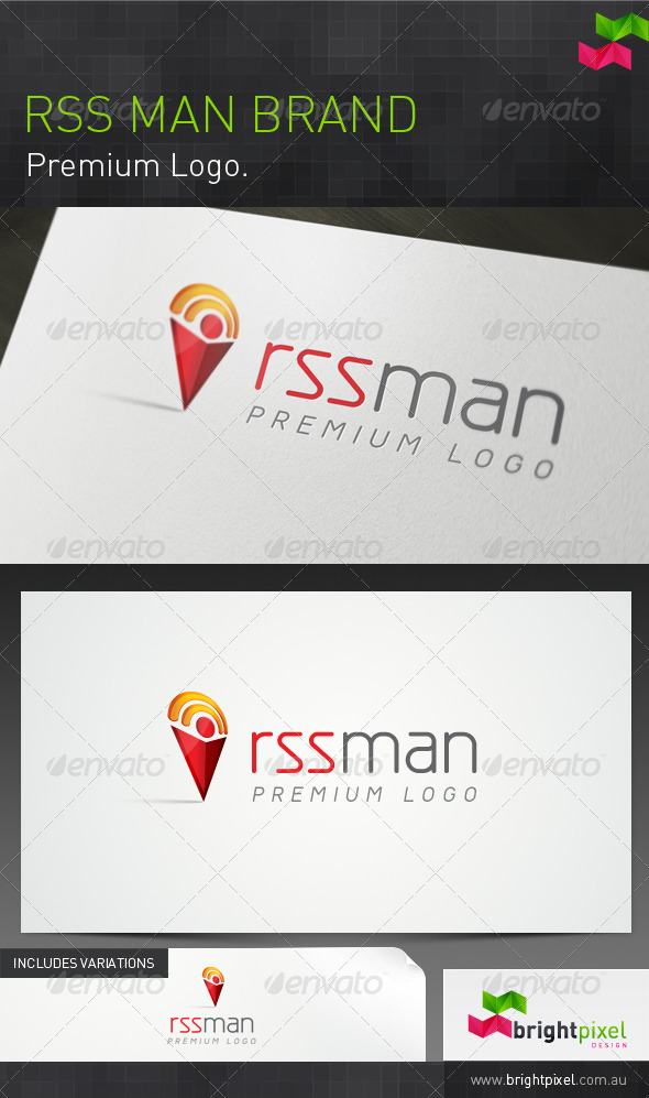 RSS Man Brand - Humans Logo Templates