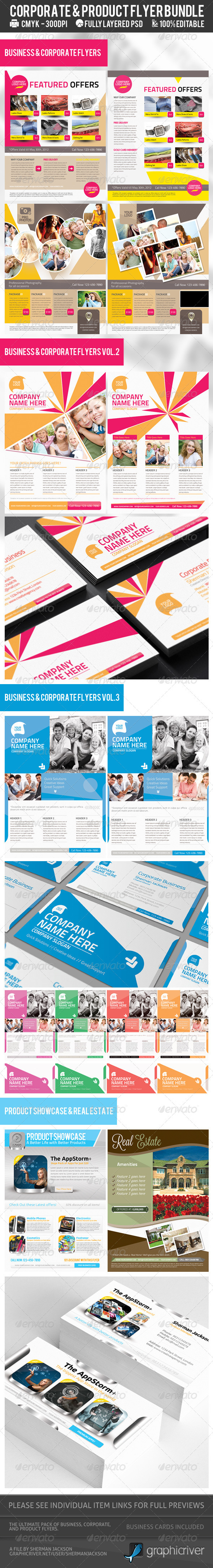Corporate & Product Flyer Premium Bundle - Corporate Flyers