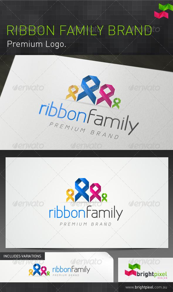 Ribbon Family Brand - Symbols Logo Templates
