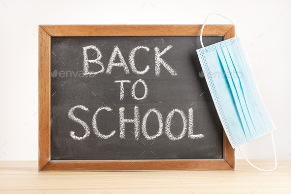 Return to school during covid-19 concept - Stock Photo - Images
