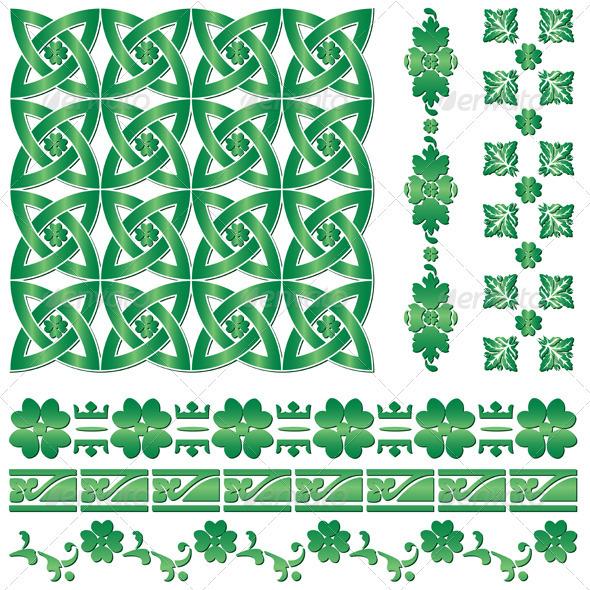 Ornaments for St. Patrick`s Day - Decorative Symbols Decorative
