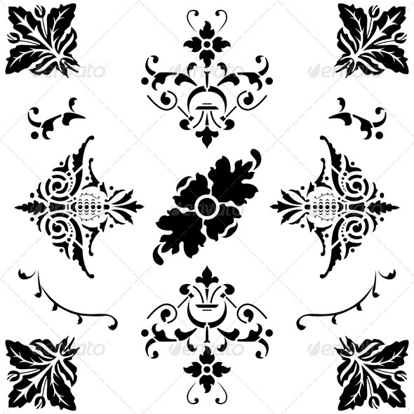 Medieval ornaments  - Flourishes / Swirls Decorative