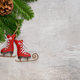 Christmas greeting card gray background. - PhotoDune Item for Sale
