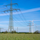 Overhead power lines and wind turbines - PhotoDune Item for Sale