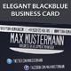 Elegant Blackblue Business Card - GraphicRiver Item for Sale