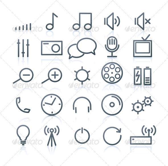 Multimedia Icons - Technology Conceptual