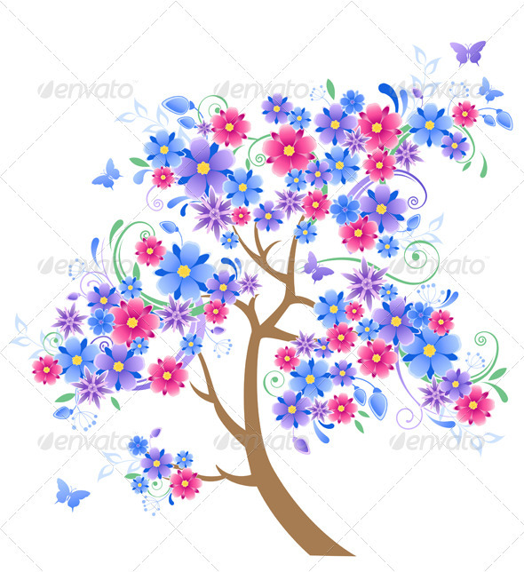 Blue Flowering Tree  - Flowers & Plants Nature