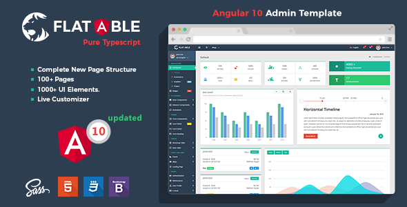 Fabulous Flat Able - Angular 10 Admin Template