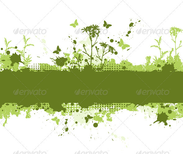 Green Grunge Background - Backgrounds Decorative