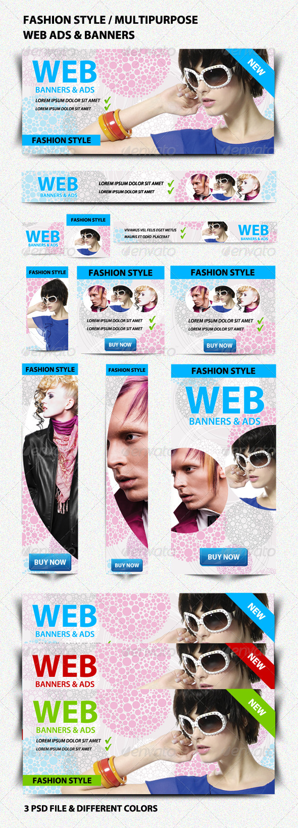 Fashion Style/Multipurpose Web Ads & Banners - Banners & Ads Web Elements