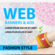 Fashion Style/Multipurpose Web Ads & Banners - GraphicRiver Item for Sale