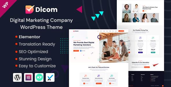 Dicom - Marketing Agency WordPress Theme