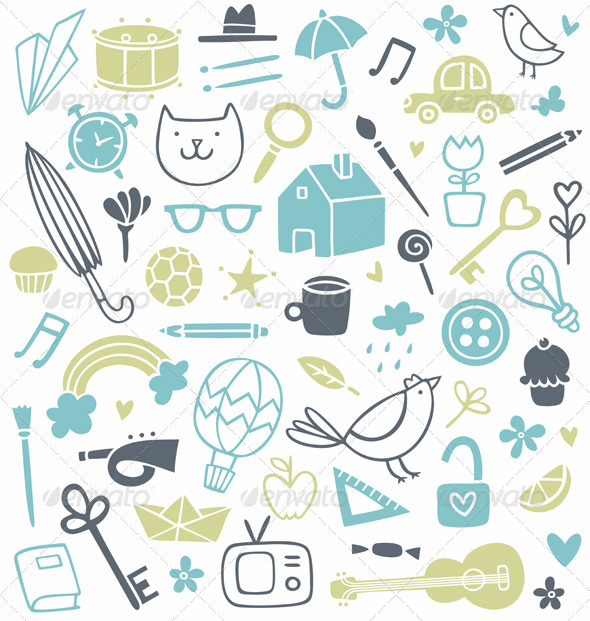 Doodle Clip Art - Miscellaneous Vectors