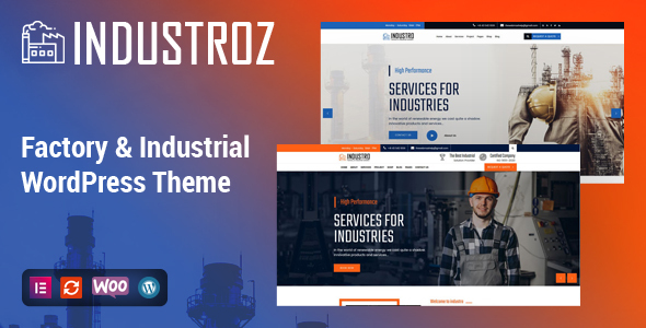 Industroz - Factory & Industrial WordPress Theme