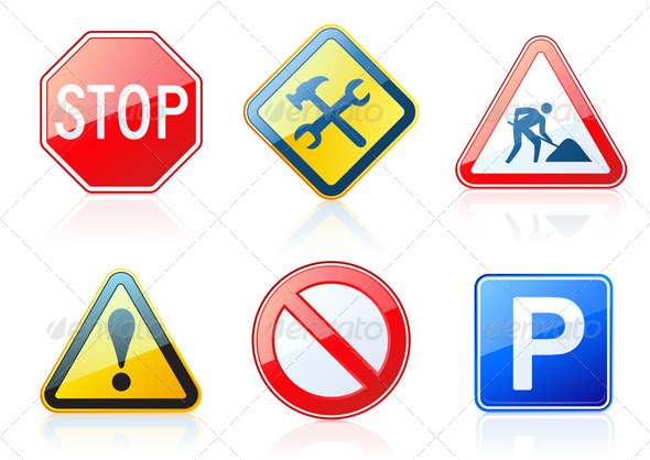 Road-style icons  - Conceptual Vectors