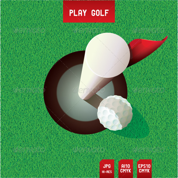 Golf Putt - Sports/Activity Conceptual