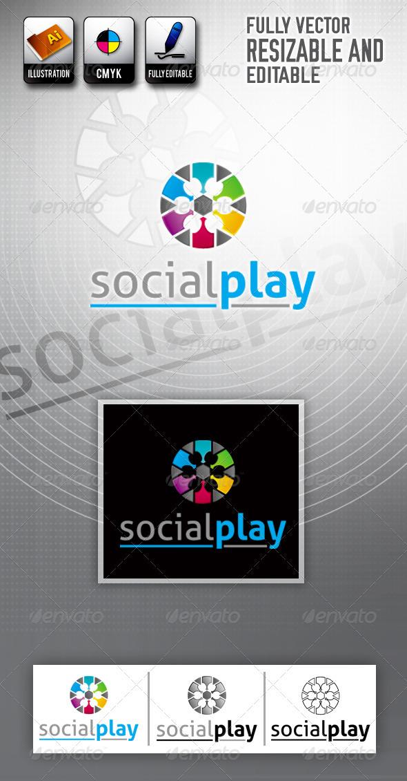 Social Play Logo Template  - Symbols Logo Templates