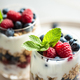 Close Up View on Two Glasses of Parfait. - PhotoDune Item for Sale
